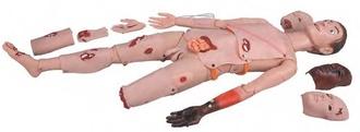 Манекен с комплектом для имитации травм